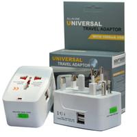 ingrosso caricabatterie multiutente au-Adattatore universale universale a spina universale Adattatore per caricabatteria da viaggio mondiale con AU Convertitore EU UK Plug con USB