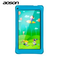 Wholesale tablet aoson online - Aoson M751 inch Kids Tablets PC GB GB Android Quad Core IPS Screen Dual Camera WIFI BluetoothEducation Tablet Best gift
