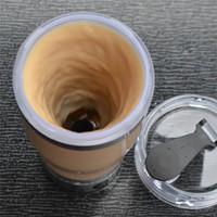 pil kahve toptan satış-Elektrikli Otomatik Kahve Karıştırma Su Şişesi Akıllı Blender Kupası 450 ML Piller Sıcak