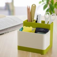 desk makeup organizer Canada - Multifuctional Storage Compartment Plastic Stationery Storage Box Cosmetic Holder Desk Tidy Organizer Makeup Collection Case