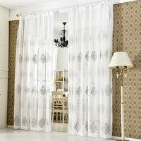Wholesale embroidered linen curtains for sale - Group buy High Quality Linen Embroidered Curtain Bedroom Window Tulle Gauze Grey Voile Curtains For Living Room Curtain Finished