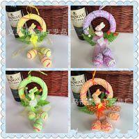 ingrosso mestieri dell'asilo-Creativo Easter Egg Rabbit Hanging Ornament Hand Made Party Scuola materna Novità Ciondolo Cute Arts And Crafts Alta qualità 8 5hq Z