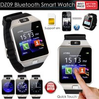 Wholesale Wearable Devices DZ09 bluetooth smart watch for android phone support SMI TF men women sport wristwatch