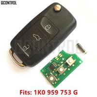 Wholesale volkswagen caddy - QCONTROL Car Remote Key DIY for VW VOLKSWAGEN CADDY EOS GOLF JETTA SIROCCO TIGUAN TOURAN 1K0959753G 5FA009263-10