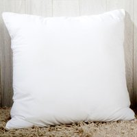 Wholesale cushion inserts wholesale - Heat printing Sublimation Pillow Case Solid color Pillow Covers OEM Cushion 40X40CM without insert bolster Oreiller