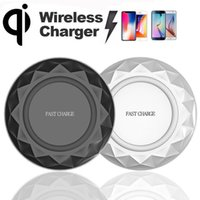 Wholesale Qi Dock - Diamond Fast Qi Wireless Charging 9V Charger Dock Pad For iPhone X Samsung S6 S7 Edge S8 Plus Note5 8