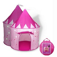 Wholesale outdoor girls tent for sale - Group buy Luminous Pop Up Playhouse Princess Castle Indoor Outdoor Girls Years