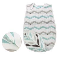 Wholesale cotton sleeping gown - 6 Layers Baby Sleeping Bag Patterns Print Unisex Baby Gowns Newborn Swaddle Sleepsack 2018 Brand Kids Sleeping Bag Swaddle Sack