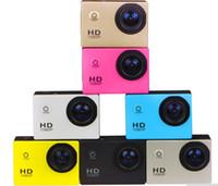 Wholesale waterproof cmos camera online - SJ4000 freestyle inch LCD P Full HD HDMI action camera meters waterproof DV camera sports helmet SJcam DVR00