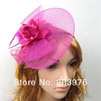 saçları büyüleyici şapkalar toptan satış-Kadınlar için fascinator kokteyl şapka düğün veya günlük ve parti kızlar saç aksesuarları ile kafa bandı klip ücretsiz kargo