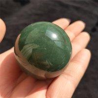bolas de cristales de feng shui al por mayor-40-50 mm hermosa bola de cristal de piedra de aventurina verde natural esfera de cristal decoración del hogar regalo de curación de cristal
