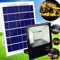 panel reflector al por mayor-El panel accionado solar de alta calidad 100W llevó la lámpara de pared al aire libre de la luz de calle de la luz de calle del control de las luces de inundación del control ligero