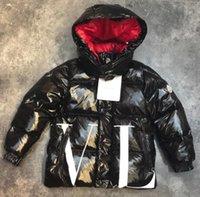 vestes les plus chaudes des garçons achat en gros de-Automne et hiver nouveau garçon amovible capuche zippée lettre à manches longues impression lettre chaude veste décontractée