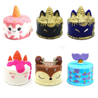 Wholesale scented toys for sale - Super Soft Squishy Slow Rising Unicorn Whale Mermaid Tail Cake Scented Squishies Deer Jumbo Toys Squeeze Phone Charms Gifts kids toys