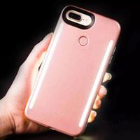 iphone aydınlatma paketi toptan satış-LED Işık Telefon Kılıfları Telefon Çift Taraf Işık Pil Kutusu Ile iPhone X 8 7 6 6 s artı Perakende Paketi Ile S7 S8