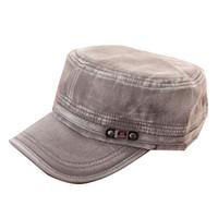 gorras de cadetes del ejército al por mayor-Moda verano ajustable clásico ejército llano Vintage sombrero cadete Cap H7