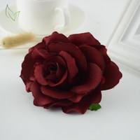 ingrosso camera sposa-10pcs nuovo a buon mercato seta rosa auto matrimonio soggiorno decorazione artigianato fai da te corona sposa bouquet fiori artificiali per la casa