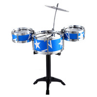 Wholesale drum percussion instrument online - Jazz Drum Kids Early Education Toy Percussion Instrument Great Gift Children Kid s Toys Gift Musical Toy Musical Instruments