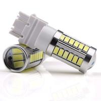 ingrosso lampadina freno posteriore-4X 3157 3156 T25 33SMD LED Auto per luce 33-5730 Chip Rosso LED Coda luce freno Lampadine