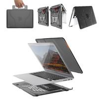 hava yastığı tutucu toptan satış-Katlanır Standı Tutucu Macbook Kılıf Kol Sert Kabuk Koruyucu Kapak El Laptop Macbook Air 13 Inç için Taşıma Çantası