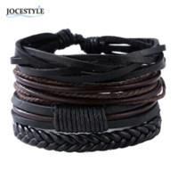 bracelets de petit ami achat en gros de-Bracelets Bracelets mens bracelets en cuir 2018 Pulseira Masculina Bijoux Charme Bileklik Pulseiras copain petite amie en gros