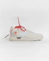 Wholesale Leather Top Table - Top Off Shoes The Ten X Virgil Abloh Air Presto Retro 1 Blazer Mid 97 90 Zoom Fly VaporMax Force 1 React Hyperdunk 2017 FK White Sneaker