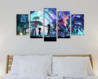 Wholesale Pictures Kids Bedrooms - Rick and Morty Wall Decor Canvas Prints Art Poster Star Frantasy Picture Modern Artwork for Living kid Room Bedroom Home rick 12