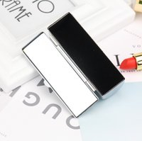 Wholesale lips stick packaging for sale - Group buy Blank Metal Lip Stick Box Pill Cases Holder Inside with Mirror Gift Lipstick Box Packaging Case Wholeslae