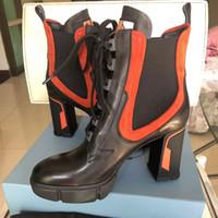 botas gruesas de invierno al por mayor-Nueva plataforma de invierno para mujer botines de tacón alto con botas horizontales para mujer
