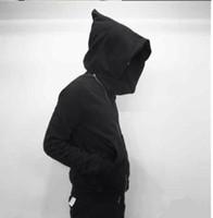 suikastçiler inanç erkek ceketi toptan satış-Mens Yüksek Sokak Moda Kapüşonlu Hoodie Ceket Ceket Kadın Giyim Eğik Fermuar Assassins Creed Cloak Severler Streetwear Kazak Ceket