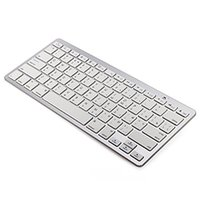 Wholesale Smartphone Slim - Russian Bluetooth V3.0 Keyboard Ultra Slim Wireless Keyboard 78-Key for Windows PC Android iOS Smartphone Tablet - Silver
