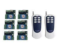 transmissor mini rf venda por atacado-Universal DC 24 v 1 canal mini RF controle remoto Sem Fio interruptor de luz de controle remoto transmissor receptor 100 M
