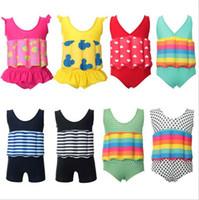 vente de bain pour bébé achat en gros de-Vente chaude bambin bébé garçon filles flottabilité maillot de bain amovible flotteur costume maillot de bain maillot de bain livraison gratuite