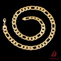 Wholesale 14k Gold Figaro - 2018 Fashion Men Women 18k Gold plated Necklace 6mm 8mm 24inch 20inch Exquisite Sideways Chain Party Gifts snake chain Accessories N202