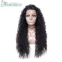 Wholesale synthetic wigs online - Fairgreat Long Ombre Water Wave Synthetic Lace Front Wigs High Density Heat Resistant Synthetic Hair Wigs For Women inch
