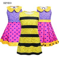 Wholesale lol cosplay for sale - Halloween Cosplay Costume For Baby Girl Dress Lol Doll Kid Striped Heart Party Princess Frock Children Boutique Disguise Up Dresses