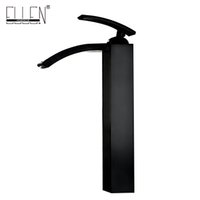 Wholesale Oil Rubbed Faucets Bathroom - Oil rubbed bronze bathroom faucets tall basin faucet black sink mixer taps square single handle deck mounted water