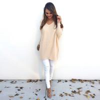 ingrosso bella camicetta di moda-Moda donna bella casual manica lunga maglione maglione cappotto camicetta bella attraente Fancinating mantenere caldi maglioni