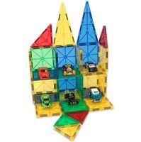 brinquedos educativos blocos de construção magnéticos venda por atacado-Blocos de 32 peças telha clara tijolos de quebra-cabeça magnético brinquedos para crianças infantil hands-on toys com magnético mttraction edifício educacional