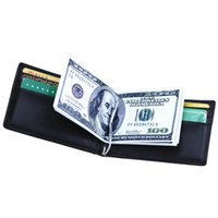 Wholesale money clip leather case for sale - Group buy Blocking Men Genuine Leather Money Clips Wallet Male Brand Card ID Holder Dollar Clip Credit Card Case Bag Women