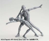 SHFiguarts BODY KUN   BODY CHAN body-chan body-kun Grey Color Ver. Black PVC Action Figure Collectible Model Toy