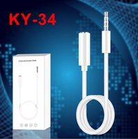 Wholesale aux cable mp3 player resale online - Jack mm Audio Extension Cable Male to Female to male Aux Cable for iphone samsung MP3 MUSIC PLAYER IN THE CAR White