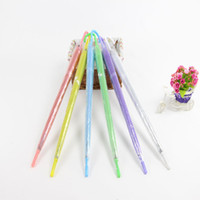 Wholesale see umbrella for sale - Group buy Clear EVC Umbrella Long Handle Rain Sun Umbrella See Through Colorful Umbrella Rainproof Wedding Photo BBA353