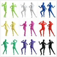 tanzbekleidung fitness großhandel-11 Farben Halloween Kostüme Zentai Kleidung Junge Frauen Weiß Fitness Anzüge Leistung Dancewear Größe: S-XXXL