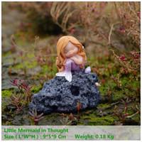 decoração do dia das crianças venda por atacado-Coleção diária Miniature Fairy Garden And Terrarium Little Mermaid Aquarium Decoração Children's Day Gift