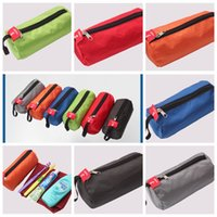 Wholesale towels packaging - Multi Function Storage Bag For Cosmetics Towel Flashlight Color Mix Cylindrical Shape Washing Bags Convenient Outdoors Packages BBA285