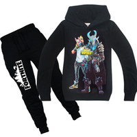 Wholesale kids clothing sets for sale - Fortnite Clothing Sets Boys Girls Tracksuit Fortnite Print Hoodie Pants Teenager Suits Kids Sweatshirt Clothes Sets Outfits