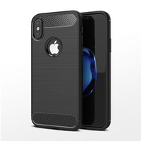 Wholesale 6s mobile phone cases for sale - Carbon Fiber Case for Samsung Galaxy Note S8 Plus S7 edge For iPhone X Plus s S SE Cover Soft TPU Shockproof Mobile Phone Bags
