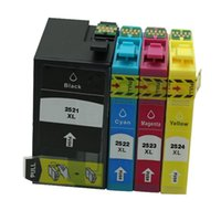 impresoras cartuchos de tinta al por mayor-4PK T2521 T2522 T2523 T2524 Cartucho de tinta de repuesto para Epson WorkForce WF-3620 WF-3640 WF-7610 WF-7620 Impresora de inyección de tinta WF-7110