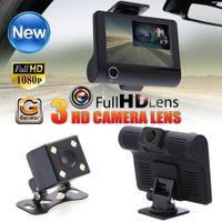Wholesale video camera definition - 4 inch Dual Lens 1080P Car DVR Rearview Video Dash Cam Recorder Camera G-sensor High-definition Car Video Player ME3L